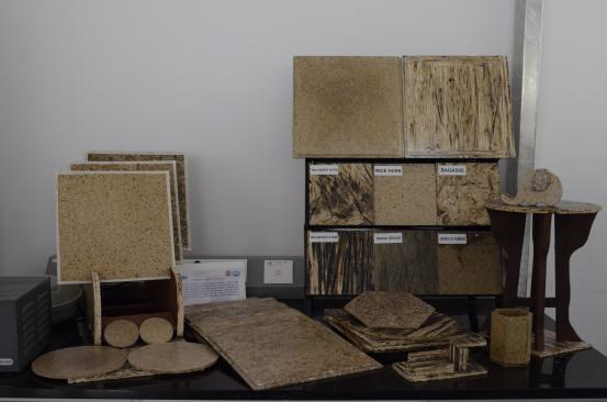 Biodegradable Ceiling Tiles from Agricultural Residues